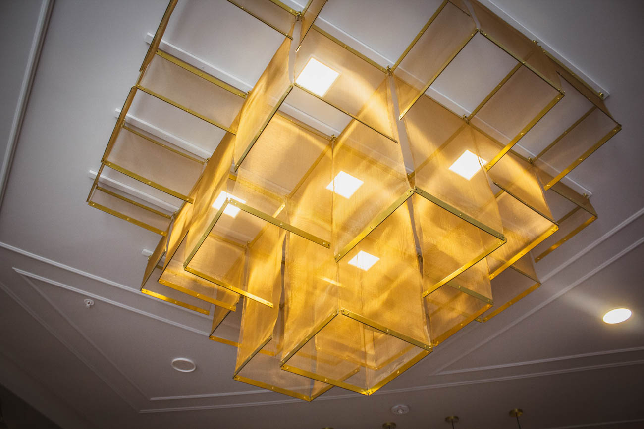 Custom light fixture designed by Platte Architecture / Image: Erin Glass // Published: 3.27.19