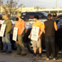 Hundreds of workers continue strike at Hannaford distribution center