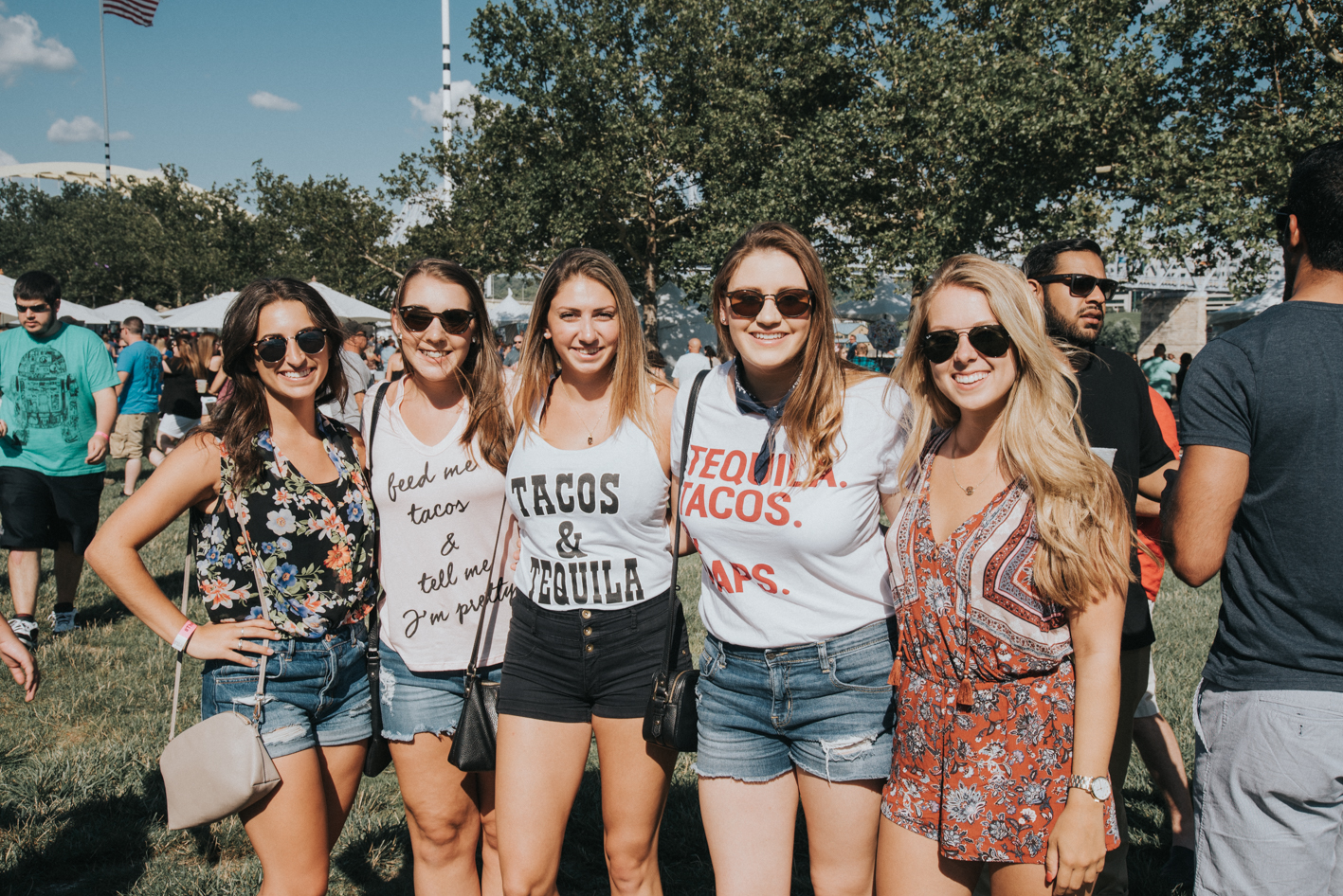 People: Julia Mauro, Brie Kincaid, Madison Stout, Jennifer Garzinski, and Haley Rubel / Event: Taco Festival at Yeatman's Cove (7.8.17) / Image: Brianna Long // Published: 8.1.17