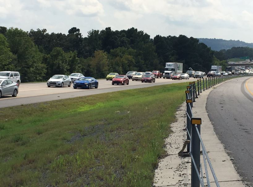 Police say the situation at I-430 north just south of I-40  has been resolved and all traffic lanes have been reopened. (photo: KATV)
