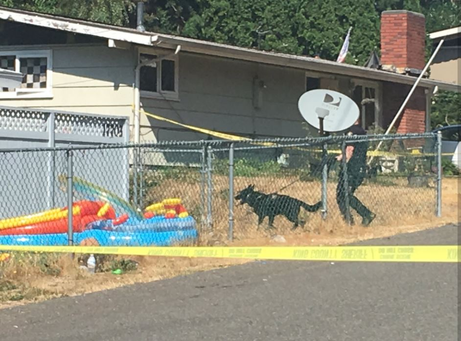King County deputies respond to a burglary and shooting in SeaTac. (Photo: KOMO News)