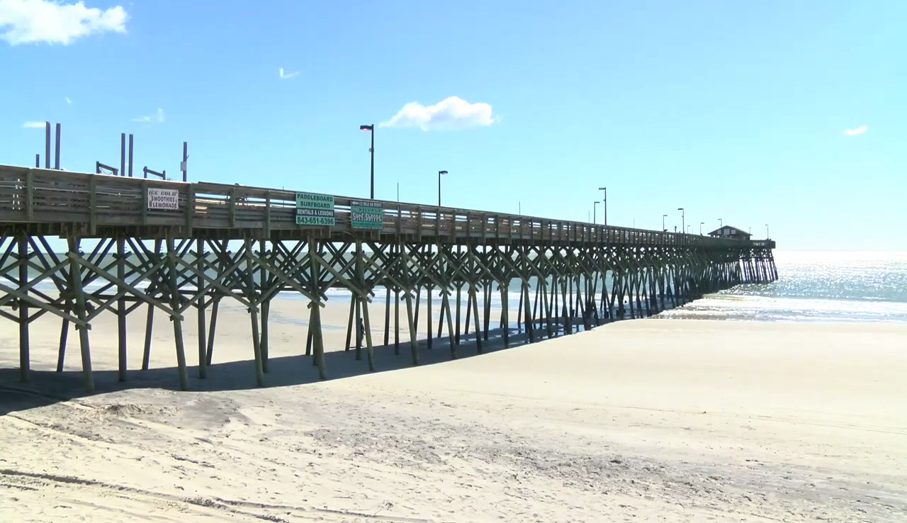 Garden City Pier Reopens Six Months After Hurricane