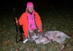 Piebald buck harvested by Cherie Jacob of New London.JPG