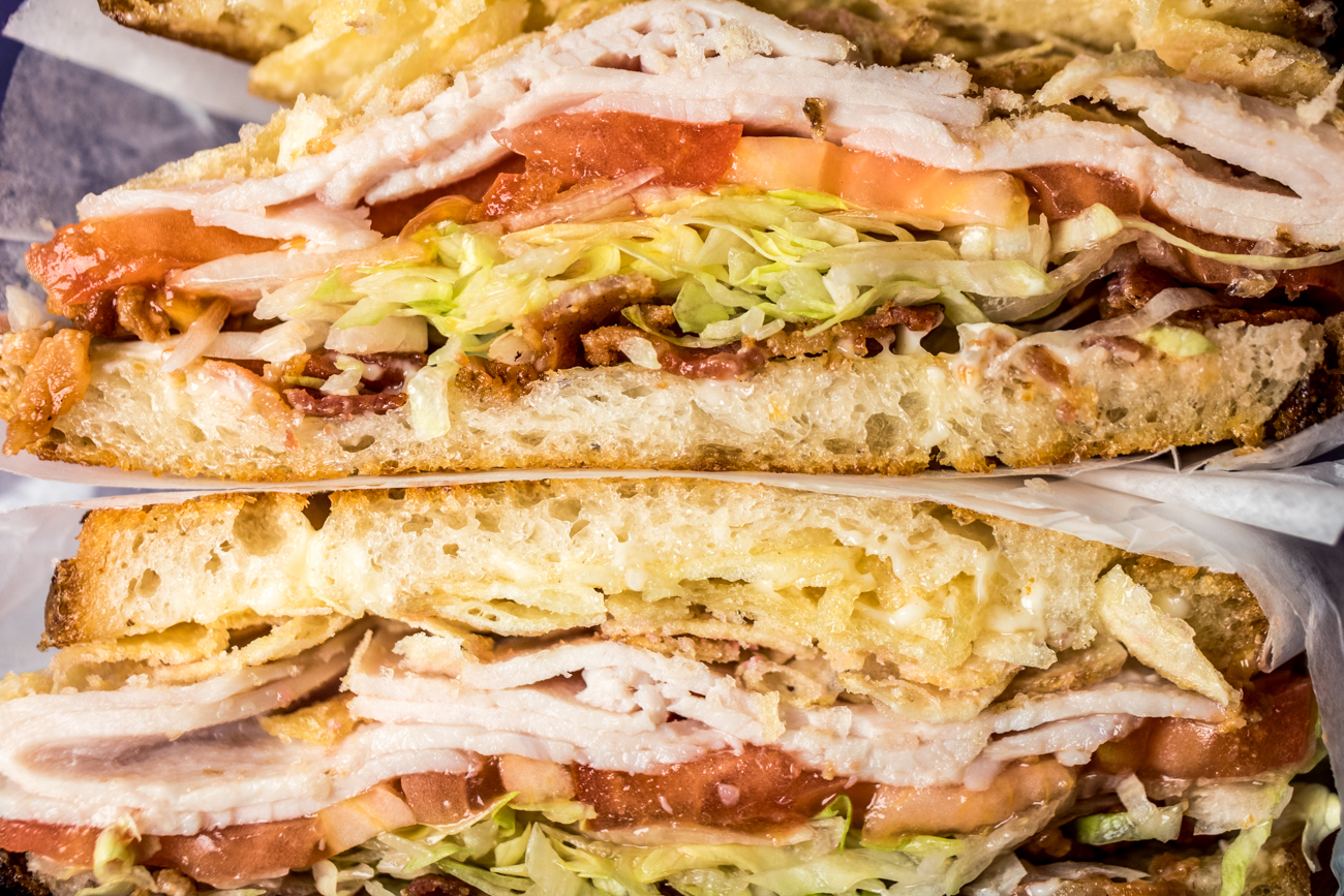 The Bushwood: turkey, bacon, lettuce, tomato, and red wine vinegar chips with mayo on griddled sourdough bread / Image: Catherine Viox // Published: 11.13.20