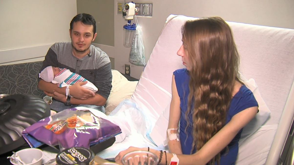 Family with new baby girl (WCIV)
