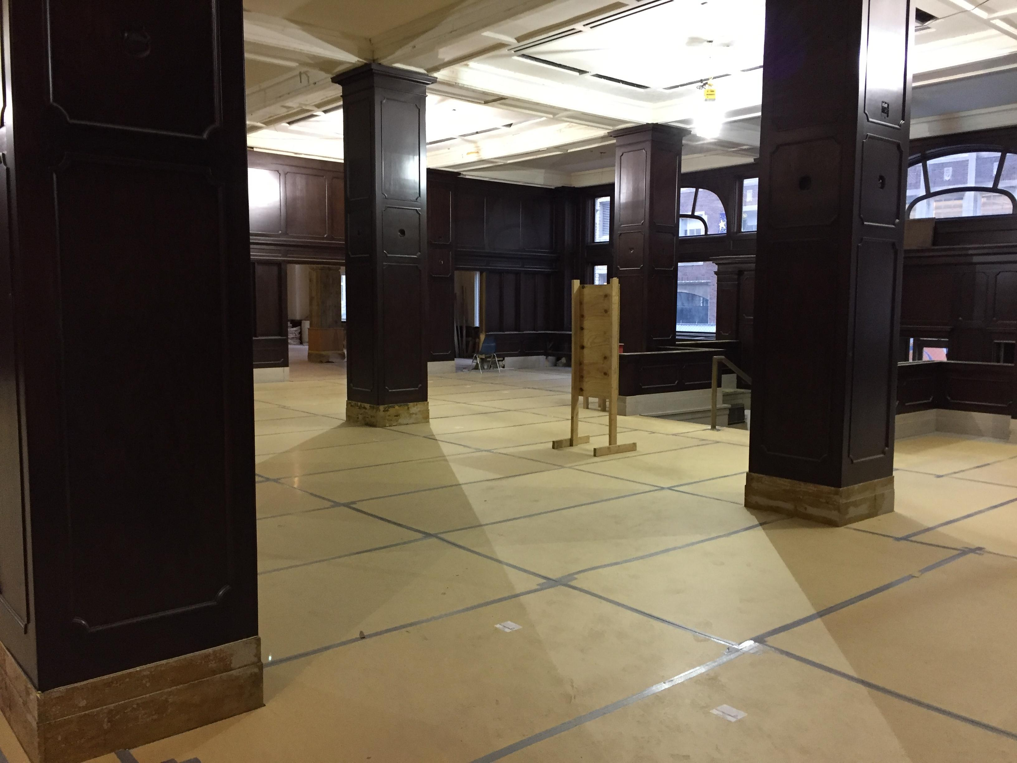 The lobby under construction in the Hotel Northland on January 11, 2018. (Photo credit: WLUK)