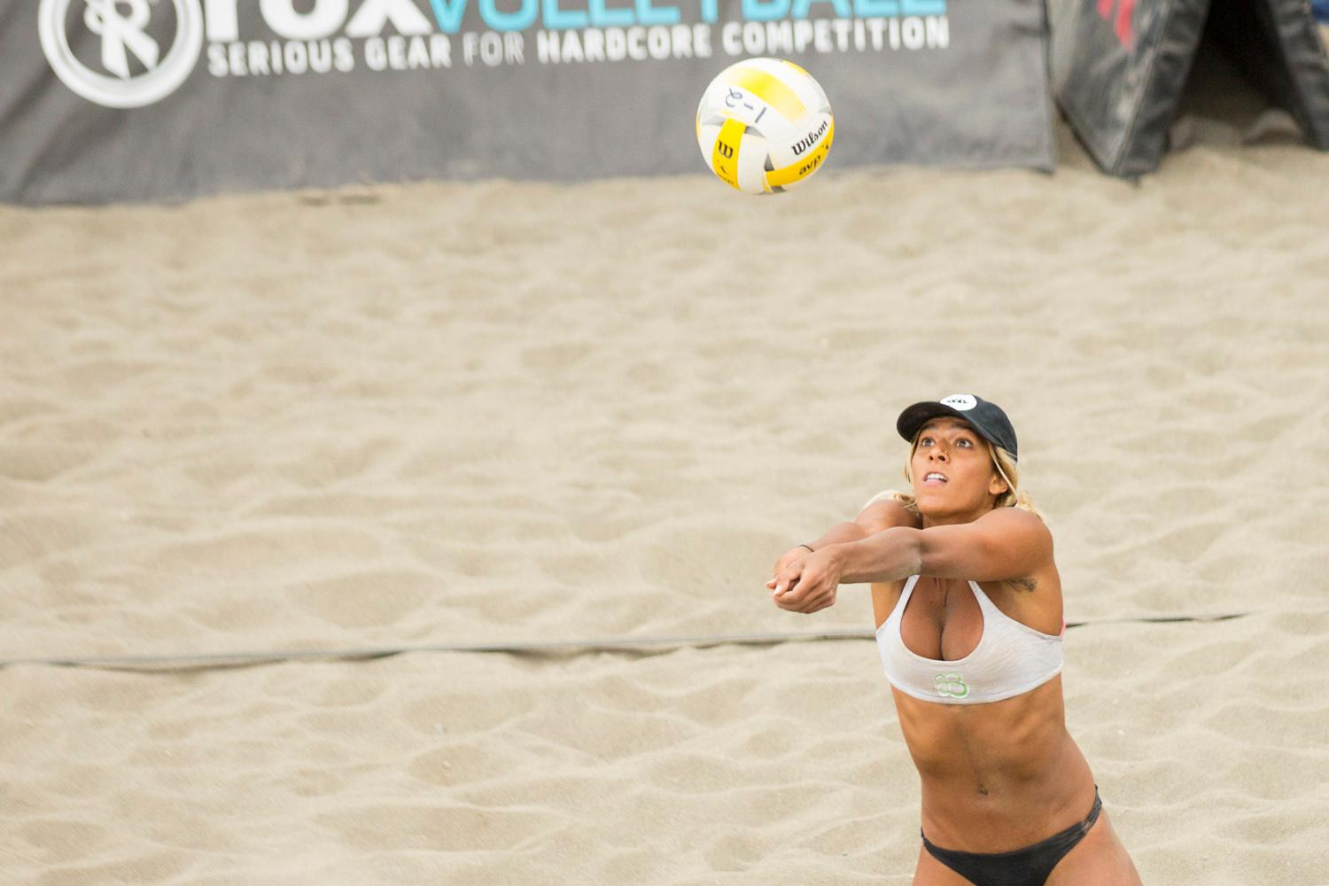 Volleyball athletes take to the beach at Lake Sammamish State Park for the qualifiers of the AVP Seattle Open. The tournament will continue over the weekend, and the winners will walk away with the Pacific Northwest AVP trophy.