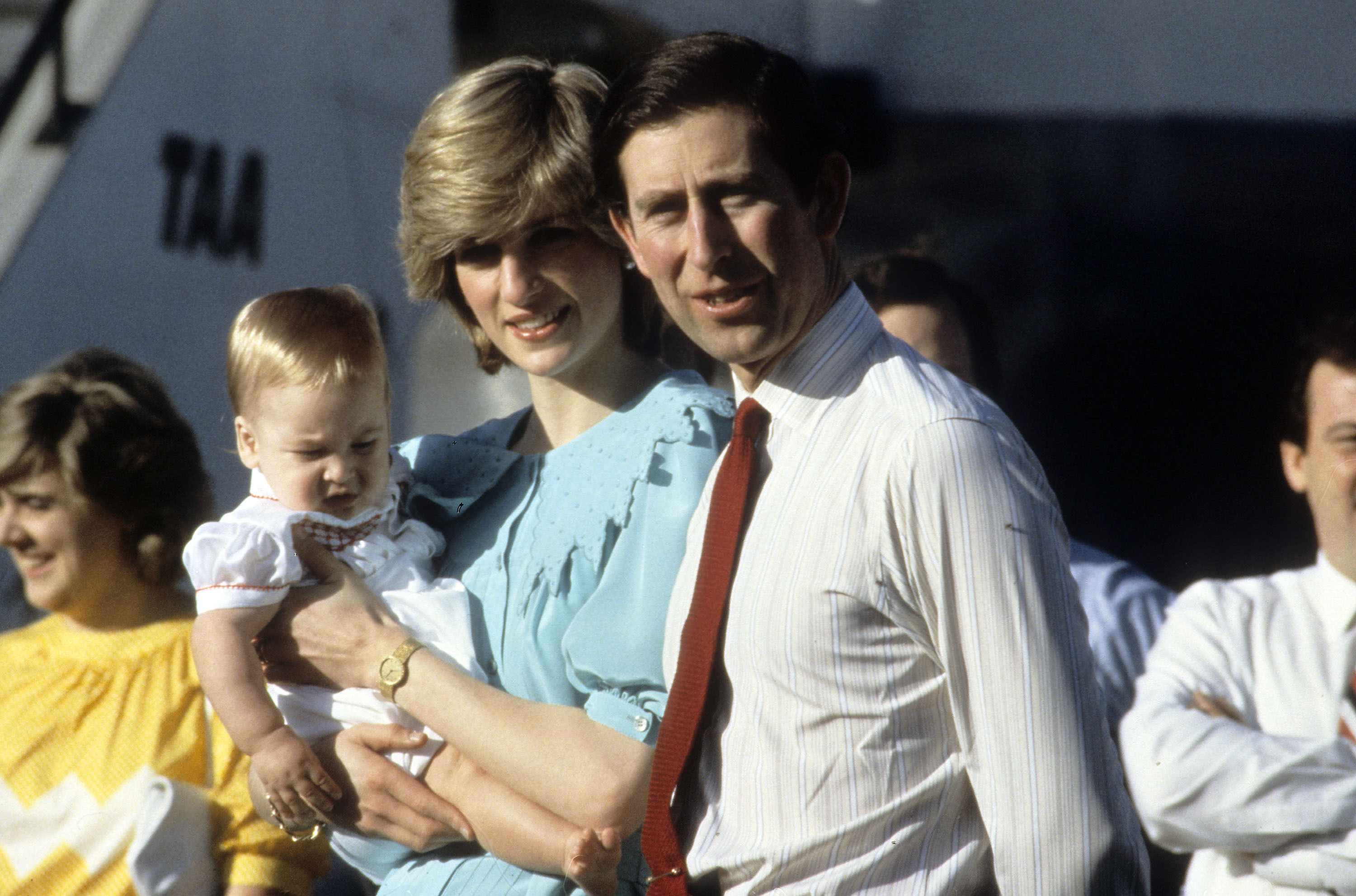 File Photo*** Prince Charles, Prince of Wales, Diana, Princess of Wales and baby son Prince William arrive at Alice Springs airport. Alice Springs, Australia - 20.03.83 ,  Featuring: ***File Photo*** When: 31 Oct 2010 Credit: WENN  **Not available for publication in France**