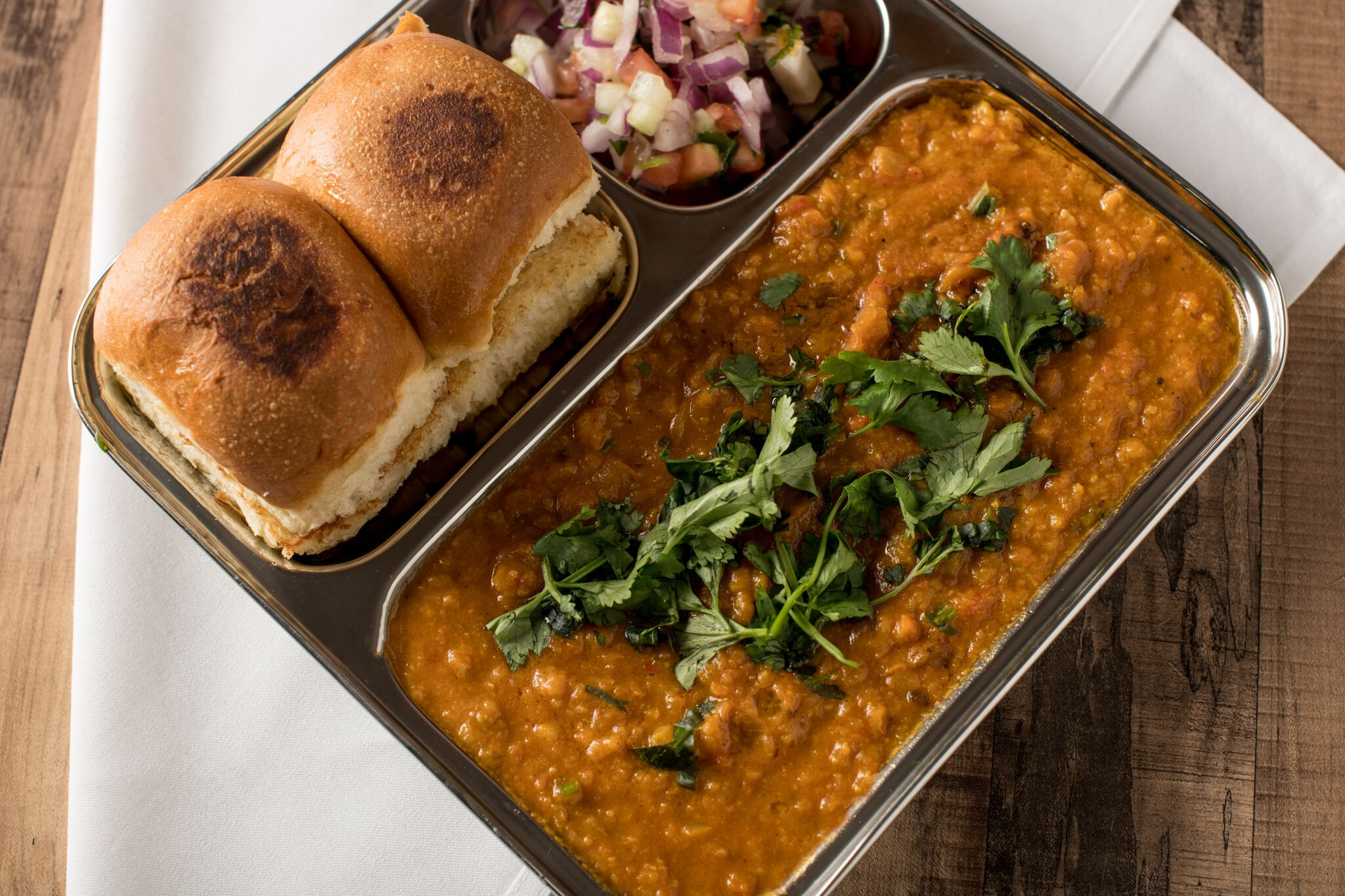 Pav Bhaji at Bombay Street Food. (Image: Courtesy Bombay Street Food)