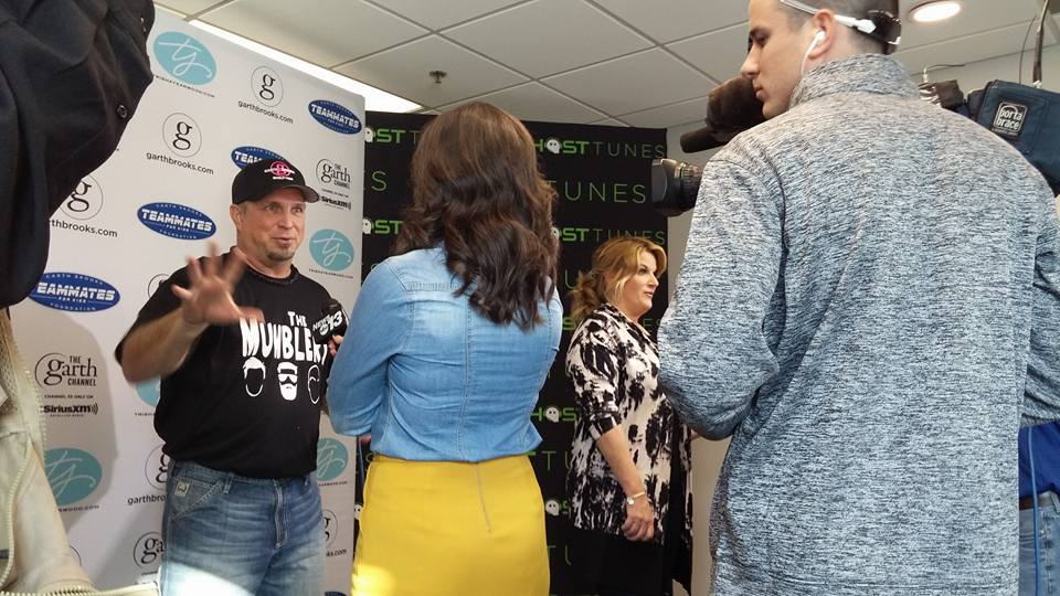 News 13's Jerrika Insco interviewed both Garth Brooks and Trisha Yearwood one-on-one in Greenville on Friday, November 18. (Photo credit: WLOS staff)