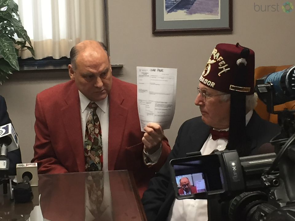 Genesee County Clerk John Gleason is demanding politicians return tainted campaign funds after a Shriner's ex-chief of staff donated fraudulent funds to their campaigns. (Photo Credit: Mike Horne){&amp;nbsp;}<p></p>