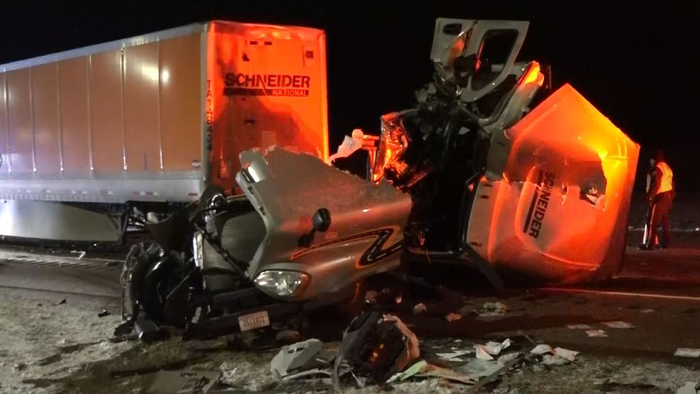 Inside the Storm: Icy roads lead to major accident in Wyoming involving semi trucks