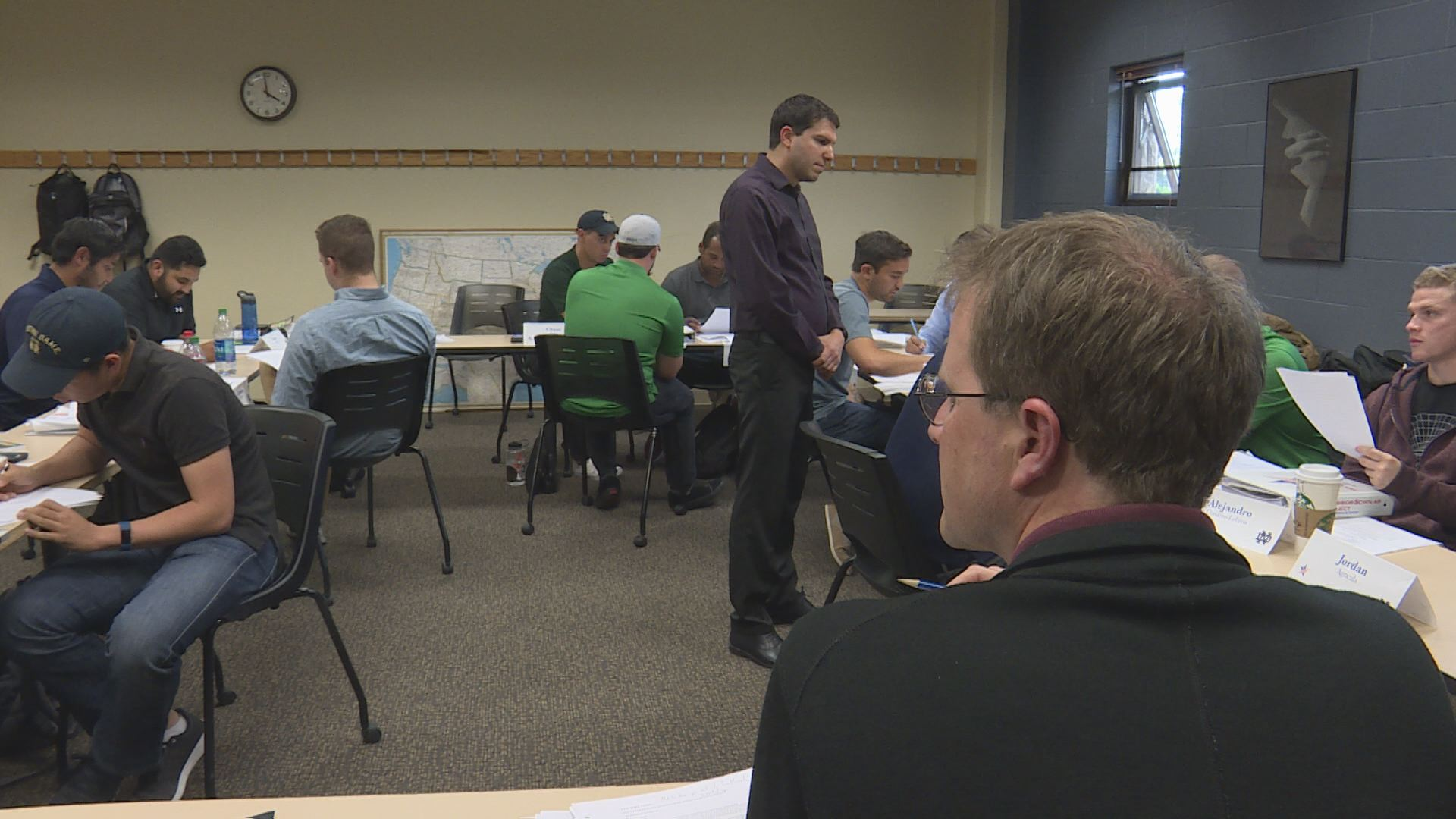 Warrior Scholar Project introduces veterans to college life at Notre Dame. // WSBT 22 photo
