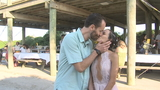 "Couple says ""I do"" a day early on Folly Beach thanks to Hurricane Irma"