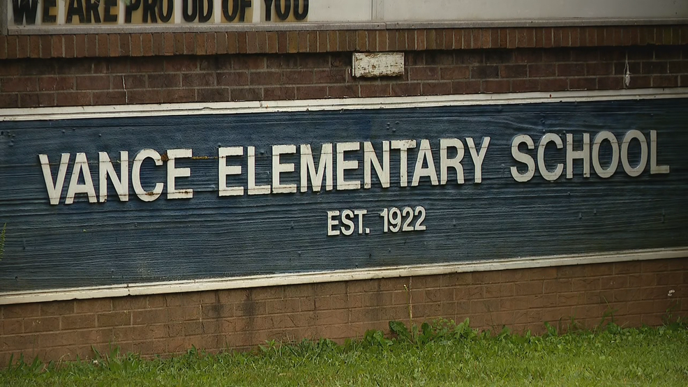 The task force charged with finding the next name for Vance Elementary met Tuesday morning. (Photo credit: WLOS staff)