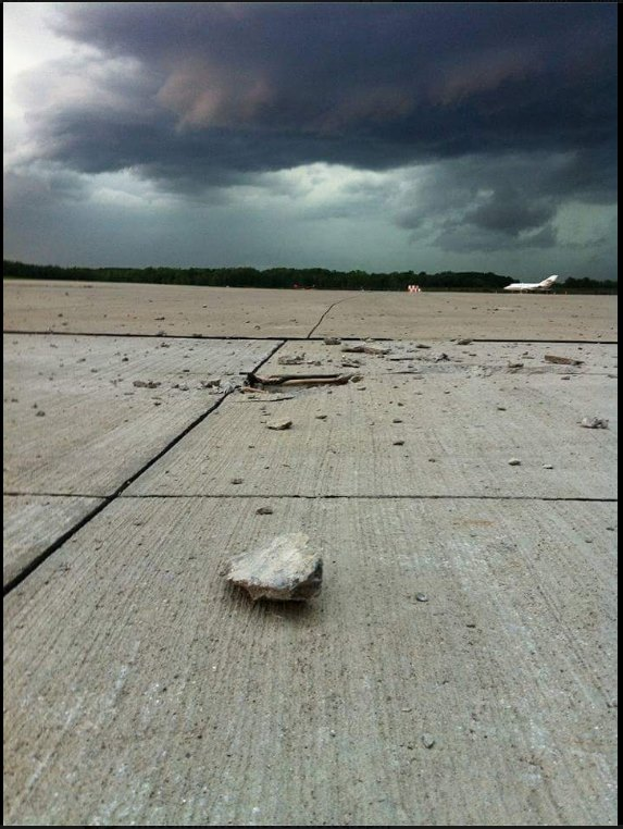 "Aug. 14: ""Lightening Strikes at Austin Straubel International Airport this evening."" (Submitted photo)"