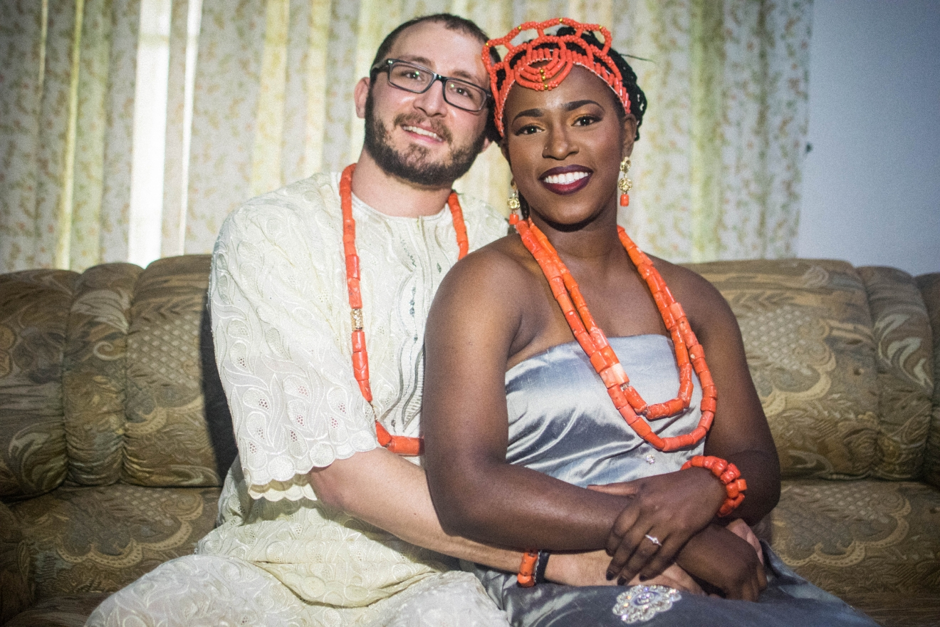 At traditional weddings, there is a lot of dancing, laughter, food, drinks, and multiple outfit changes! Although Ugochi's family considers them married, the couple still has their white wedding in the U.S. this coming September!  (Emeka Nwakibu/@itsnationdotcom)