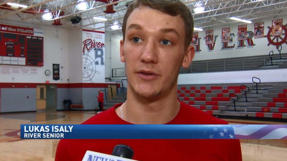 2.21.18 Athlete of the Week - Lukas Isaly, River basketball