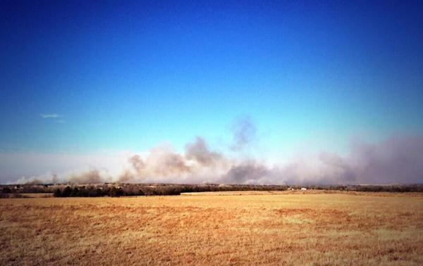 Fire near Guthrie in Logan County.
