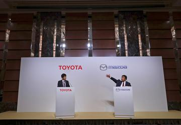 Toyota, Mazda plan $1.6B US plant, partner in EVs