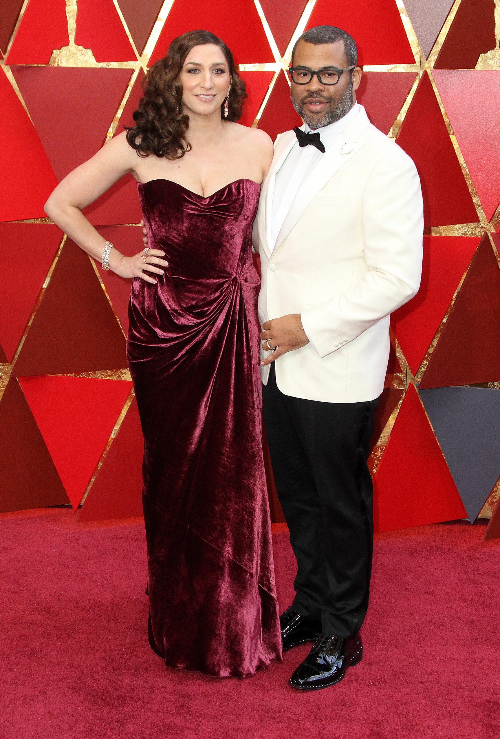 Jordan Peele and his film &quot;Get Out&quot; made history at the Oscars as he became the first African American to win Best Original Screenplay. He looked the part of a winner in his Calvin Klein 205W39NYC tux with a custom Jason of Beverly Hills lapel pin and a Montblanc watch.(Image: Adriana M. Barraza/WENN.com)<p></p>