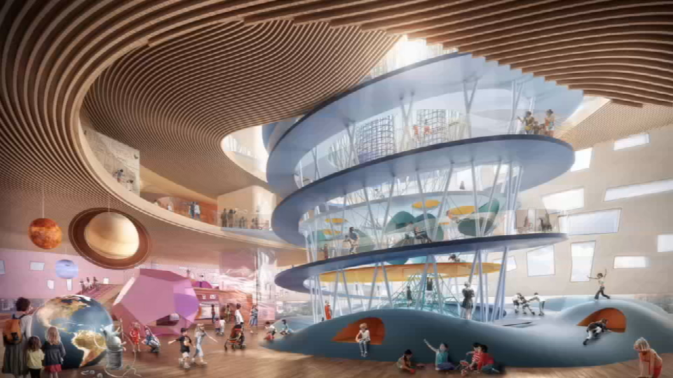 Renderings of what the new El Paso Children's Museum could look like. El Pasoans can now vote on their favorite design.
