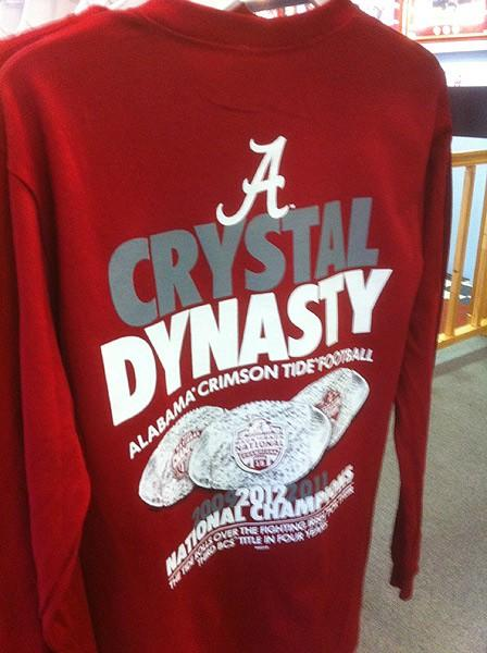 Some of the new Bama gear