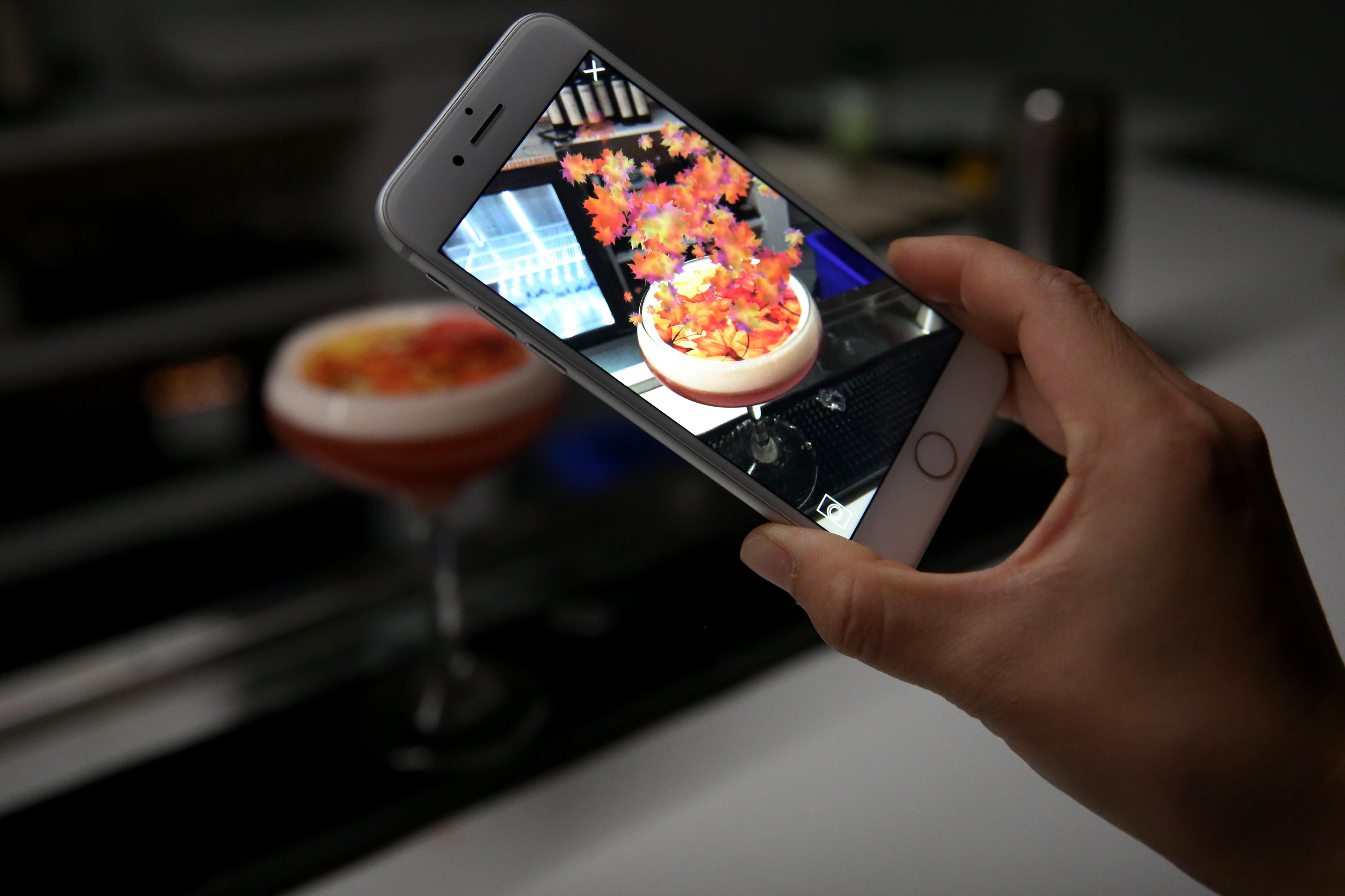 In order to fully experience this refreshingly tart cocktail, you'll have to download an  app so you can see an augmented reality. (Amanda Andrade-Rhoades/DC Refined)