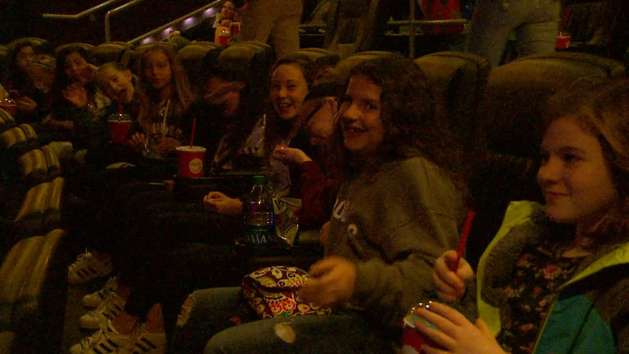Nathaniel's classmates  attend the movie screening. (KOMO photo)