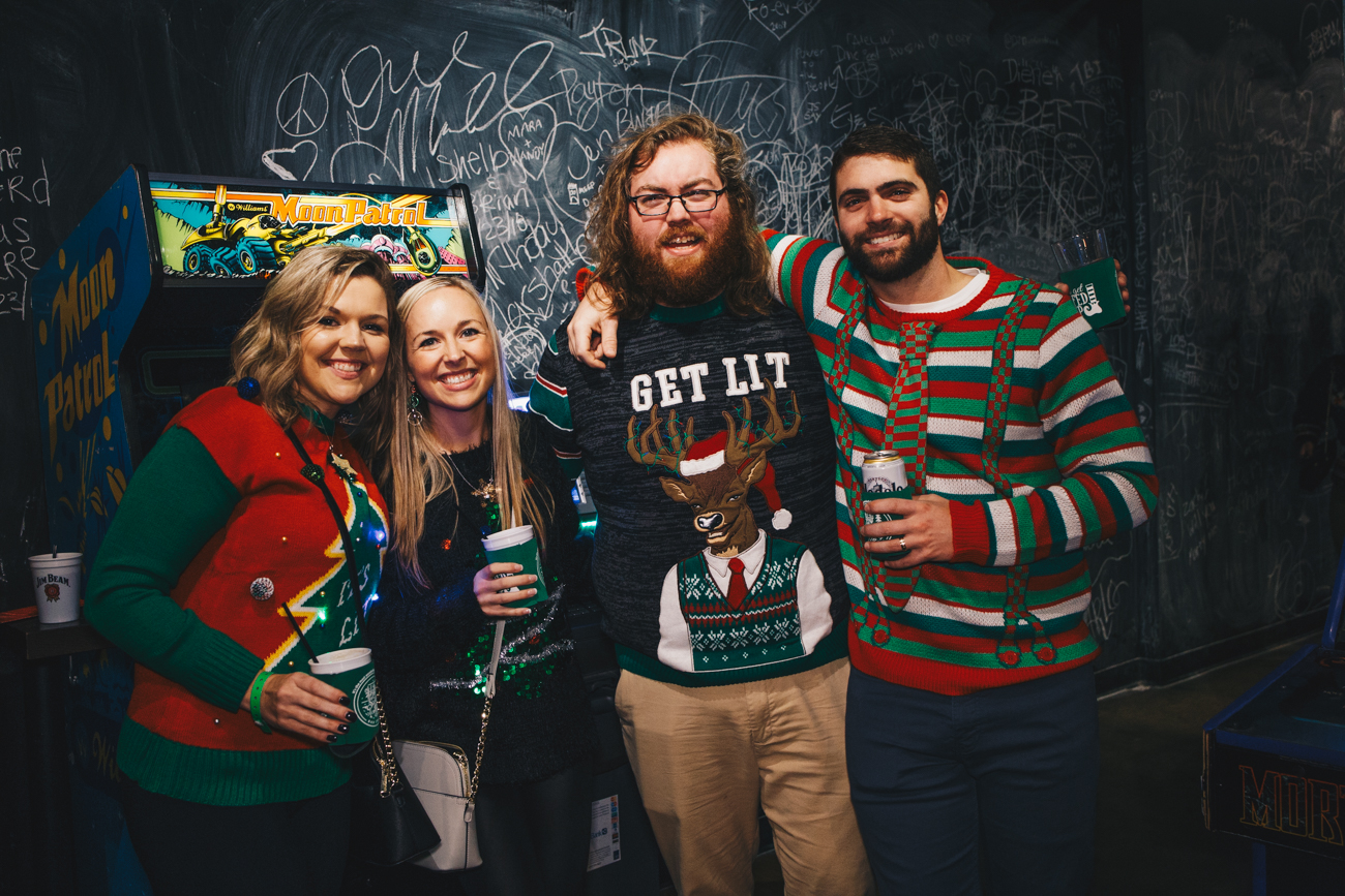 Ashlynn Miller, Britney Ederle, Randy Brown, and Dan Enderle at 16 Bit / Image: Catherine Viox // Published: 12.2.18