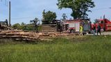 UPDATE: 4 in hospital after log truck flips, crashes into van in Macon
