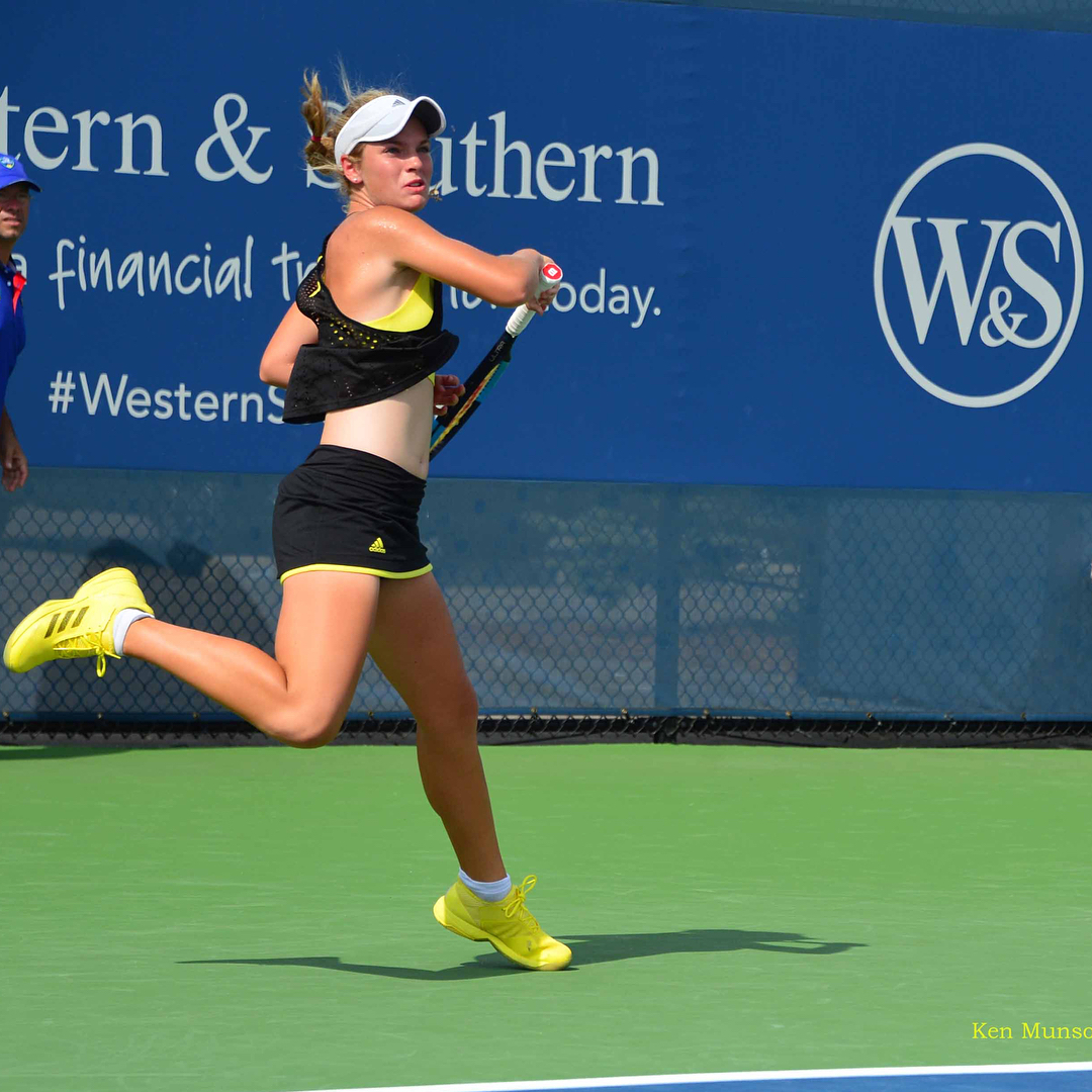POST: Caty's 1st WTA Master's 1000 Main Draw match @cincytennis WS Open. Girl chasing her dream. / IMAGE: IG user @kenmunsonphotography // Published: 8.17.17