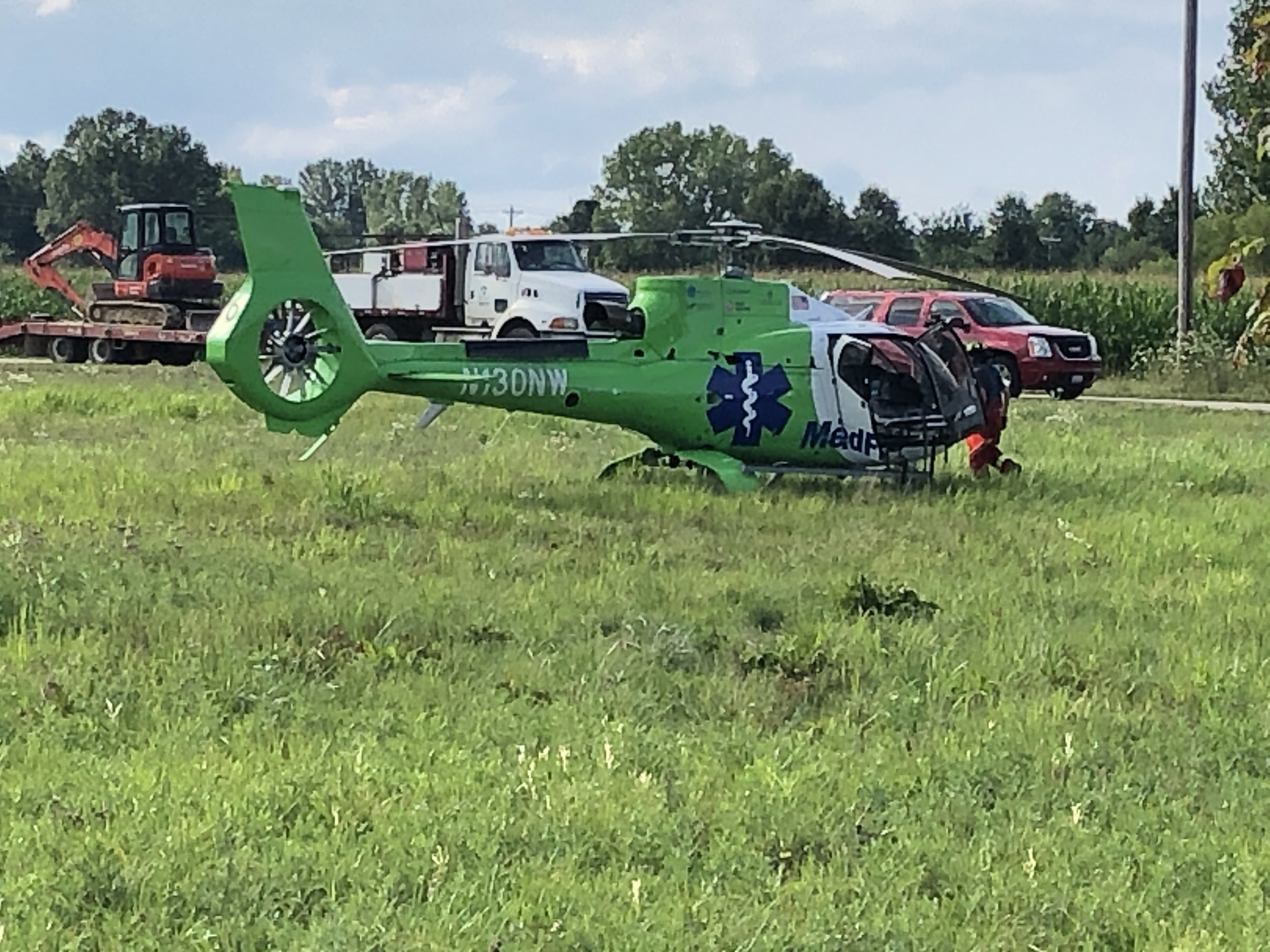 Troopers with the Ohio State Highway Patrol said one person was killed and another has been airlifted to the hospital after a two-vehicle crash at State Route 521 and Galena Road in Delaware. (WSYX/WTTE)