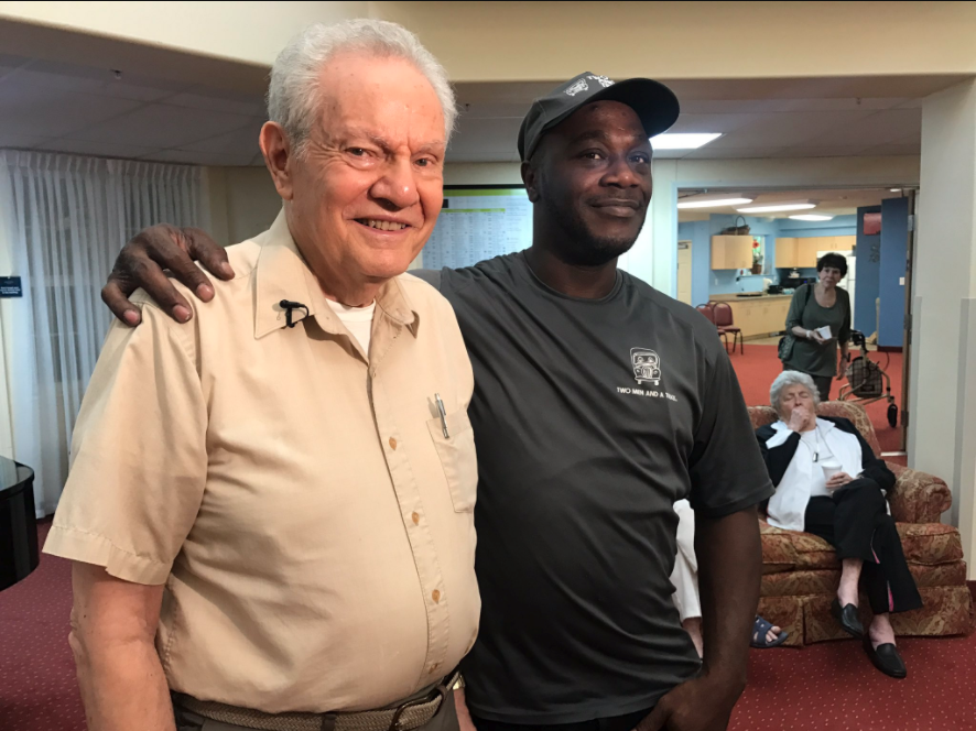 Man reunites with the mover who saved his life. (WPEC)