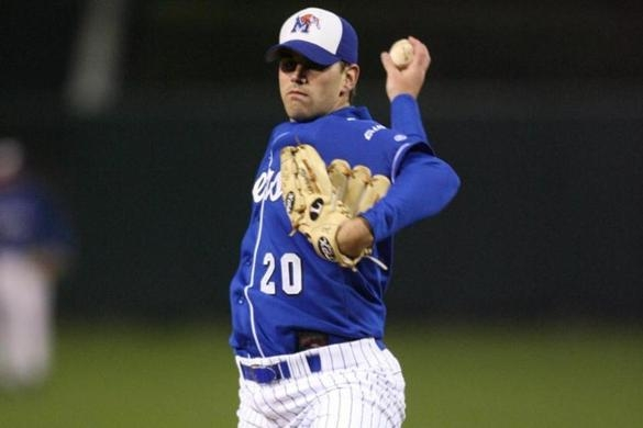 Gostkowski went to Memphis on a baseball scholarship, but went 7-22 with an ERA of  6.04 in 55 games. On Sunday, though, he will achieve a grand slam by playing in his fourth Super Bowl (Photo courtesy University of Memphis)