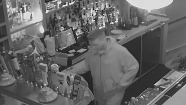 The Loft Restaurant and Bar in downtown Ashland hopes someone will identify the man who physically assaulted two employees and sexually assaulted another. (Loft security footage)<p></p>