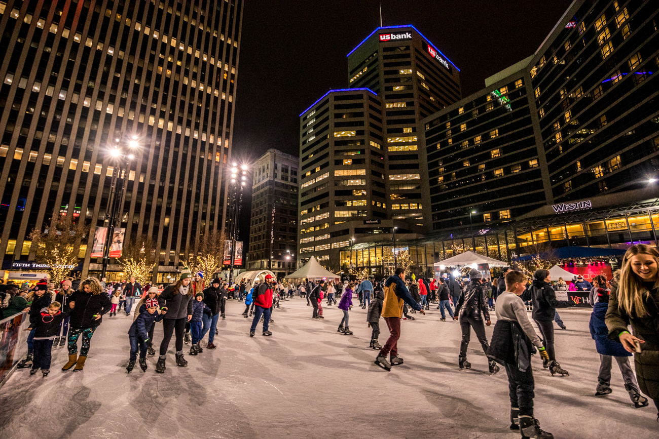 People also ice skated on the open rink on the Square all night long. / Image: Catherine Viox // Published: 11.30.19