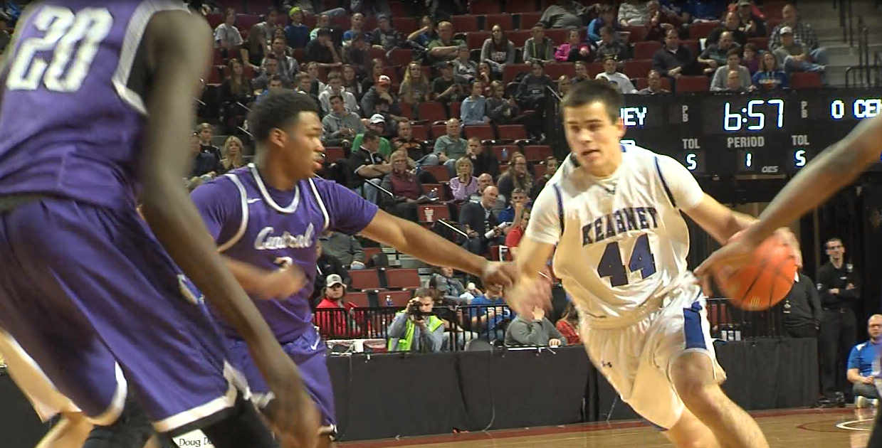 Kearney's Kanon Koster (44) scored 38 points against Omaha Central on March 9, 2017 (NTV News)