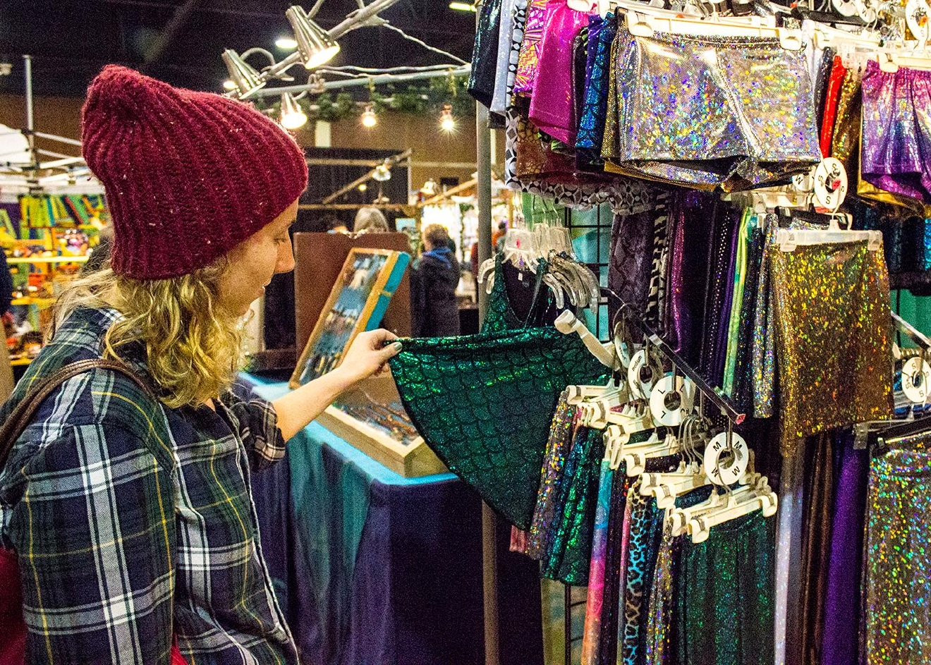 The Eugene Holiday Market at the Lane Events Center in Eugene continues through Christmas Eve, open 10 a.m. to 6 p.m. Friday and Saturday and until 4 p.m. Sunday. (Amanda Butt/SBG, 2016)