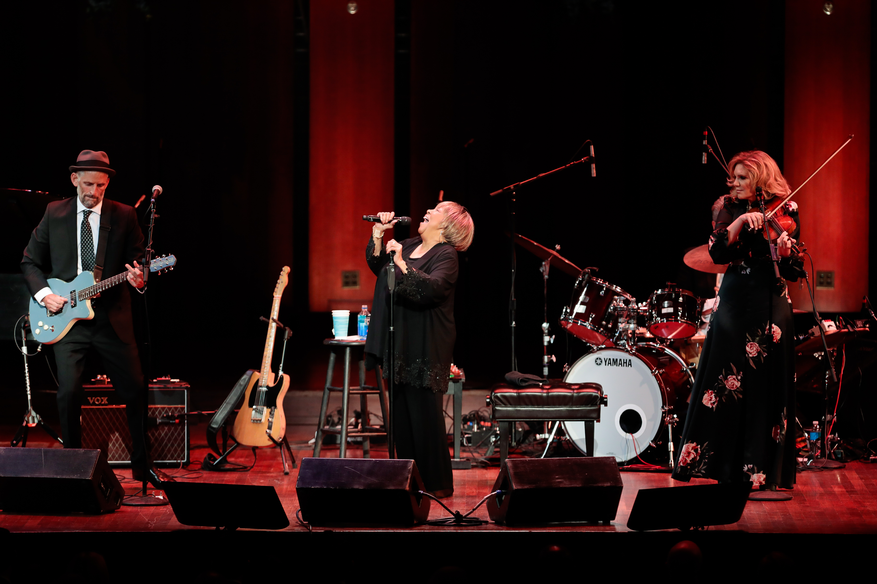"Staples performed classics from ""The Staple Singers"" repertoire such as ""If You're Ready (Come Go With Me)"" and ""Respect Yourself"" to more modern gospel songs such as Alela Diane's ""Take Us Back."" (Image: Yassine El Mansouri for the Kennedy Center)"
