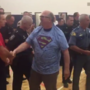 Assaulted Principal returns to school; thanks first responders