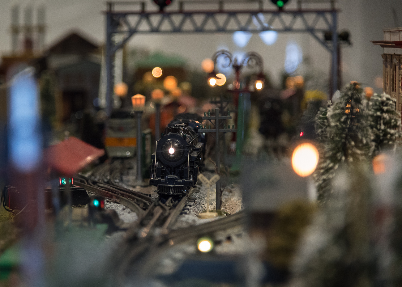 The Duke Energy Holiday Trains make their grand reappearance inside the fully-restored Cincinnati Museum Center this season. Though they weren't on display last year due to construction, the trains have been a Cincinnati tradition since 1946. More than 10 million people have enjoyed the trains since their debut over the last 72 years. The display is one of the largest portable models in the world and features 300 miniature rail cars, 60 engines, and 1,000 feet of track. / Image: Phil Armstrong, Cincinnati Refined // Published: 11.15.18