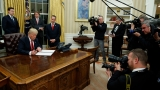 Live: Trump signs first executive order to 'ease the burden' of Obamacare