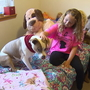 'She was a huge part of our family:' Girl finds new companion after dog dies in fire