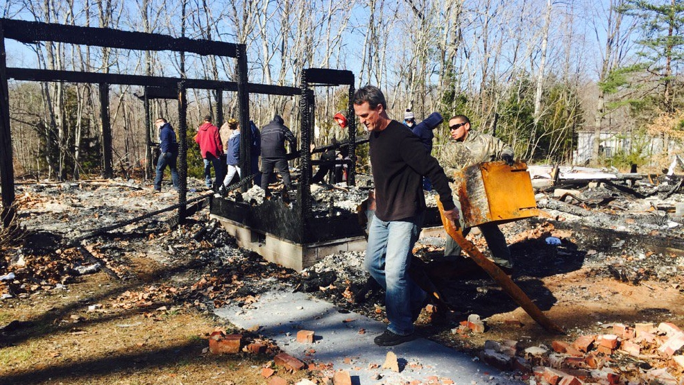 Appomattox county football team helps clean up after for M and m motors appomattox