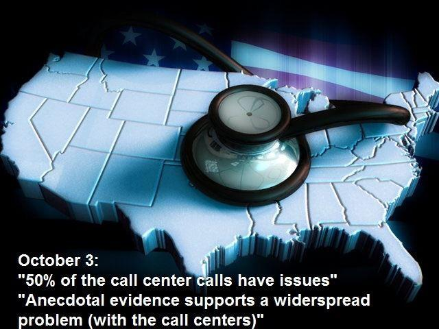 It wasn't just healthcare.gov that head problems. The call centers were inundated with Americans hoping to get coverage, but those centers weren't ready for the high volume of calls.