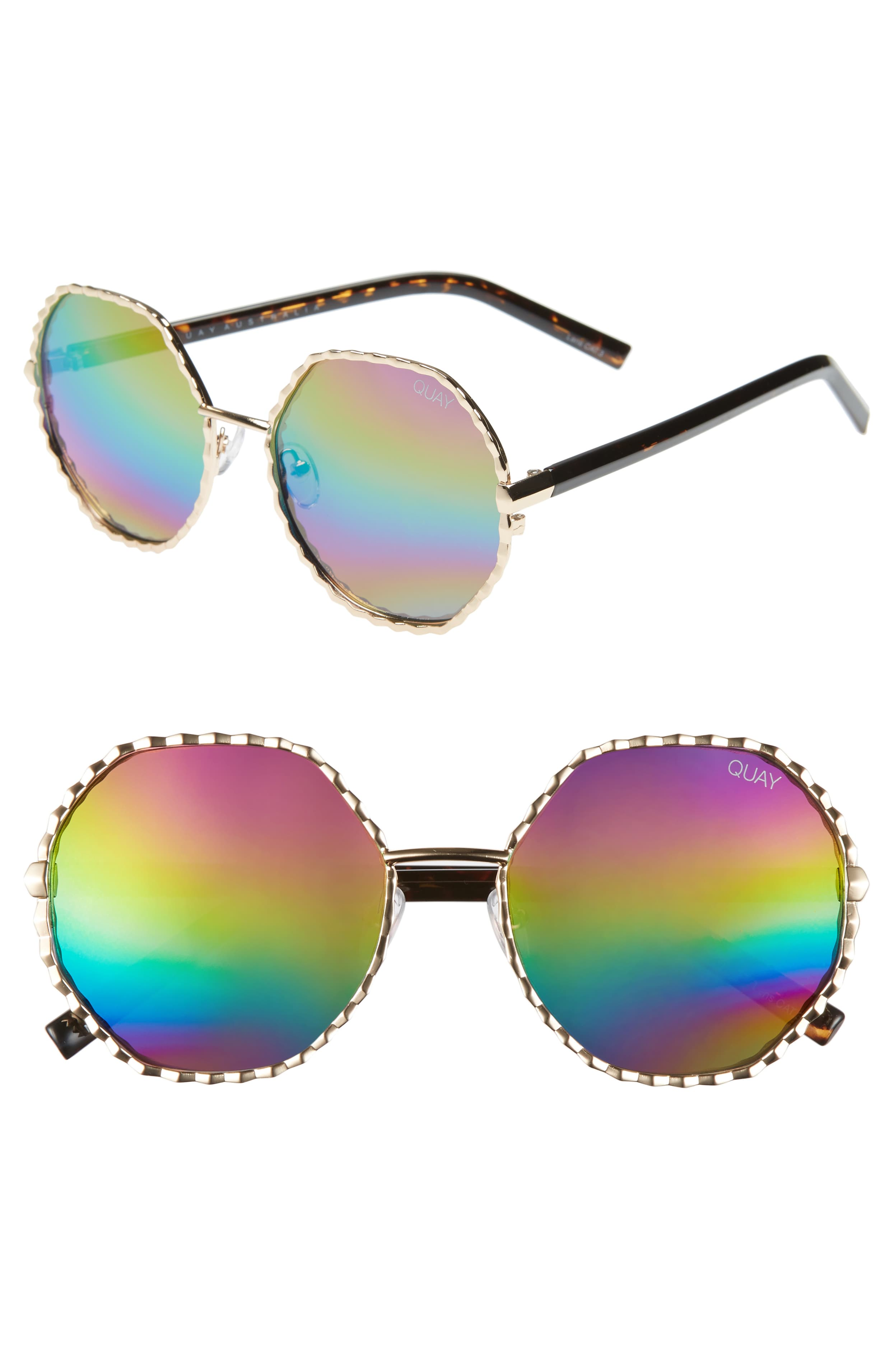 Make your look effortlessly boho-chic in polished shades featuring textured round frames that playfully glint in the sun.{ } Kylie Jenner ain't got nothin on you boo. Price $60 (Image: Nordstrom){ }