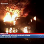 Carriage house burns down near Sonnenberg Gardens