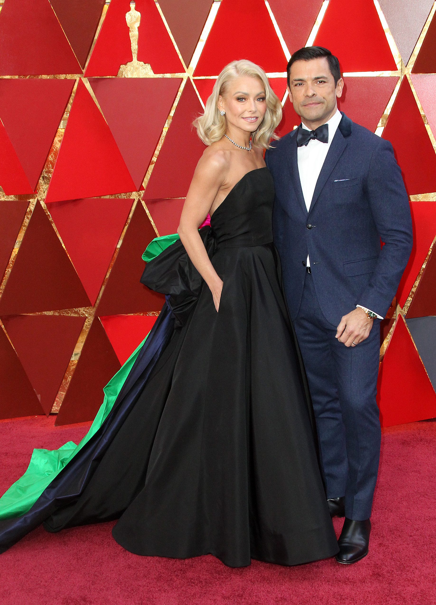 Kelly Ripa and Mark Consuelos arrive at the 90th Annual Academy Awards (Oscars) held at the Dolby Theater in Hollywood, California. (Image: Adriana M. Barraza/WENN.com)