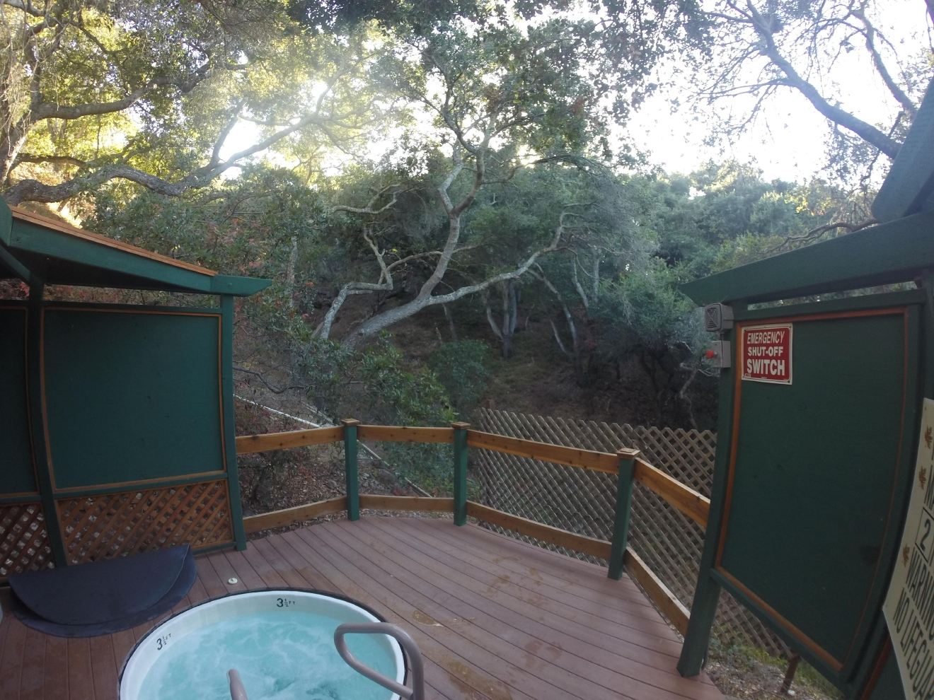 The hot tubs at Sycamore Mineral Springs are secluded, sitting on the hillside near Avila Beach.